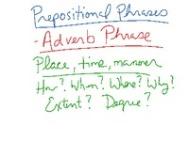 prep adverb