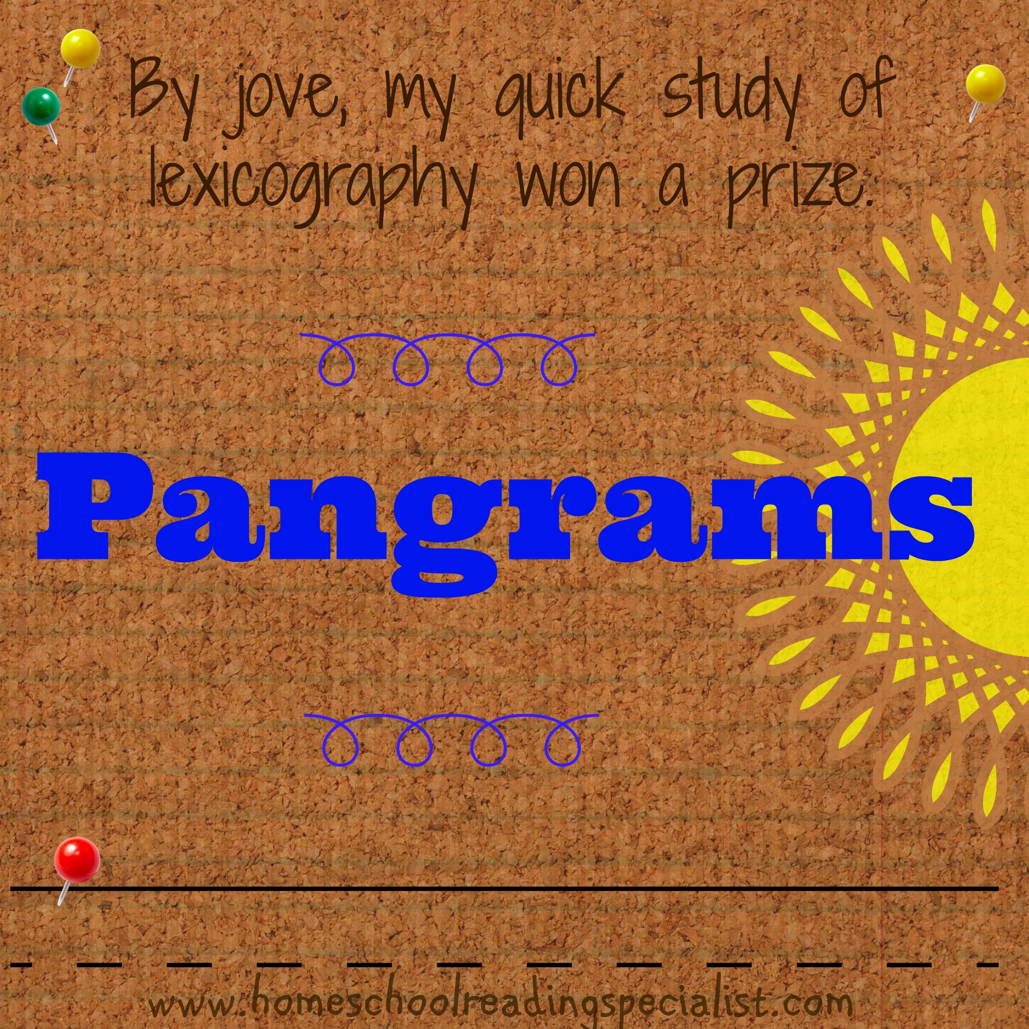 Look Up Number >> Writing on Wednesday ~ Pangrams! | Homeschool Reading ...